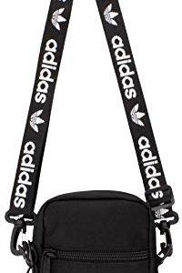 adidas Originals Unisex Festival Crossbody Bag, Black/White, ONE SIZE